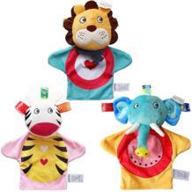 Перчатки мультфильм животных Finger плюшевые Игрушечные лошадки на пальцах биологического детские куклы дети развивающие Рука Марионетки игрушка JJOVCE 32828197315