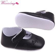 Новый Малыш Девушка из искусственной кожи Принцесса Детская кровать в обуви новорожденных Comfy открытый детская обувь От 0 до 1 года 4 цвета WEIXINBUY 32516835804