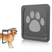 ABS Автоматический Pet Собаки Кошки ворота двери для Экран окна дома коттедж Пластик собаки забор двери кошка щенок Товары для собак No name 32849199234