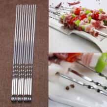 10 шт. нержавеющая сталь плоские шампуры для мяса для Открытый принадлежности шашлыков барбекю No name 32804727297