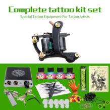 Полные комплекты татуировки 1 Gun татуировки Питание 4 цвета наборы чернил одноразовые иглы сцепление советы No name 32641614507