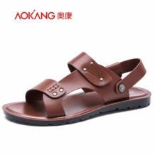 Aokang 2016 новых летняя обувь мода летние сандалии стиль сандалии кожаные мужские мужской обуви свободного покроя обувь для человека бесплатная доставка No name 32616295824