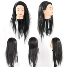Профессиональный парикмахерских практика обучения голова 65 см черные волосы парикмахеры салон Прическа парикмахеров манекен Учебные головы-манекены No name 32787217342