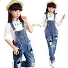 8, 10, 12, 13, Весенняя детская одежда, джинсовые комбинезоны, джинсовые штаны с рисунком для девочек, одежда для девочек, Осенний комбинезон, модные детские брюки Tammy Ada 32852758060