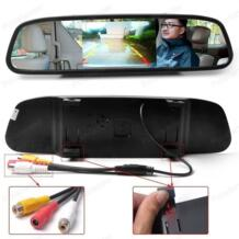 4,3 дюймовый ЖК-дисплей Автомобильный зеркальный монитор заднего вида Парковка HD видео монитор заднего вида экран для резервной камеры заднего вида PolarLander 32694470058