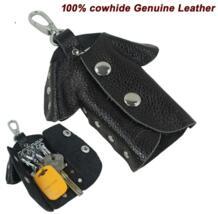 Модные женские туфли Пояса из натуральной кожи key holder кожаный бумажник ключа Для мужчин ключ чехол ключ сумка черный Бесплатная доставка mc-802 No name 32402056961