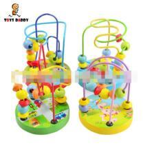 Горячая 1 шт. случайным детские игрушки baby doll Дети Развивающие learing игрушки бусинами строка бисер для игр мини провода лабиринт шарики HAPPY MONKEY 32781709584