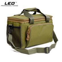 Многофункциональная холщовая коробка 600D для рыболовных снастей камуфляжная зеленая сумка/сумка на плечо для рыболовного инструмента 37x25x25 см LÉO 32843597931