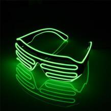 Светящиеся вечерние мигающий на проводе светодиодный Очки сертифицированное CE освещение классический подарок яркий светодиодный свет Солнцезащитные очки для отдыха noroomaknet 32827663808