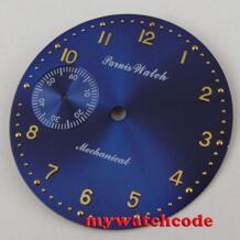 38,9 мм синий циферблат подходят eta 6497 Чайка часовой механизм случае D101 No name 32826707415