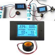 Высокое качество цифровой AC Напряжение метров 100A/80 ~ 260 V Мощность энергии вольтамперметр, Вт ток усилители вольтметр ЖК-дисплей монитор xinxiang 32852381301