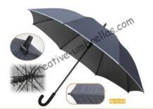 Бесплатная доставка по морю, 14 мм стекловолокна вал и ребра, авто открыть Гольф зонтик, анти-гром, нейлон серебряное покрытие, флуоресцентные полосы No name 32295770020