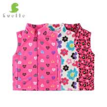 /детский флисовый жилет на весну-осень-зиму для девочек детский шерстяной жилет с принтом для мальчиков Vetement Enfant Gilet Veste SVELTE 32803309006