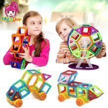 21-97 шт. детские игрушки развивающие мини Магнитные дизайнерские 3D DIY модели строительство креативные Enlighten строительные игрушки подарки MylitDear 32803519580
