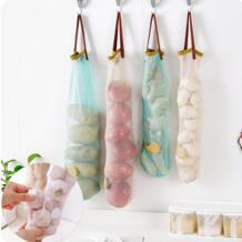 Новые сетчатые дышащие фрукты овощи, чеснок, лук Висячие сумка для хранения на кухне хранения Прямая поставка ISHOWTIENDA 32949275426