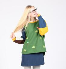 Японский принт Осень Новый женский свободный с круглым вырезом флис утолщенный зеленый пуловеры толстовки милый консервативный стиль весна осень новый Bebobsons 32712891504