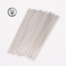 Сталь Бисер иглы для шитья кожи, Никель Цвет, около 1,2 мм толщиной, 89 мм, приблизительно 34 шт.-38 шт./пакет pandahall 32620637083