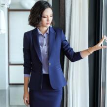 2018 женский деловой женский костюм с юбкой, комплект для женщин, Блейзер, Офисная Женская одежда, куртка, пиджак, костюм из 2 предметов с юбкой AidenRoy 32933726944