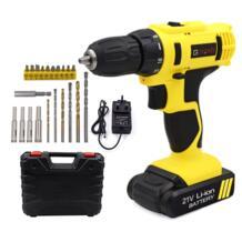 Аккумуляторная электрическая мини дрель, отвертка с литиево ионной аккумуляторной батареей 21 В/12 В с 2 скоростями|screwdriver drill|electric screwdriver 21v|21v battery - AliExpress GOXAWEE 32834799456