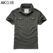 АК-клуб Футболки-поло для мужчин 100% хлопок Мужские Поло рубашка новый двойной прорезной карман короткий рукав Мужские Поло рубашка для Для мужчин Мужские Поло рубашка 1516008 No name 32662328896