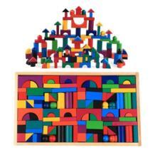 112 шт./компл. маленькие деревянные блоки цветные Деревянные конструкторы Радужное дерево для детей детские игры от 2 до 10 лет MINOCOOL 32931605776