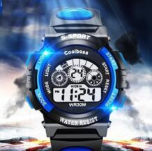 Splendid Высокое качество модные повседневные спортивные часы водостойкие дети мальчик цифровой светодио дный светодиодный Кварцевые Будильник Дата наручные часы Aimecor 32634781918