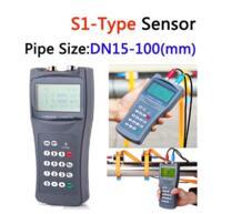 Портативный ультразвуковой расходомер/расходомер с S1-Type Малый преобразователя зажим на Сенсор (размер трубы: DN15-100 мм), TDS-100H-S1 No name 32629292608