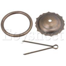 Античная бронзовая 12x7,5 см кружева глава кольцо ящик комод тянуть ручки SYLIFE 32859250712