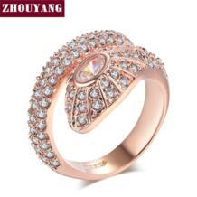 одежда высшего качества ZYR138 змея кристалл кольцо розовое золото цвет Австрийские кристаллы Полный размеры оптовая продажа ZHOUYANG 923908964