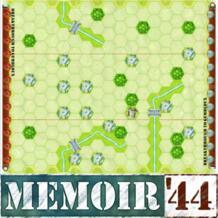 """[ Wargame ] Memoir'44 """" прорыв к Gembloux """" сценарий боя карта, Печатается с территорий для установки времени No name 32502139210"""