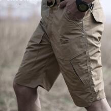 Летние военные камуфляжные мужские шорты Карго повседневные многокарманные водонепроницаемые хлопковые шорты Ripstop армейские тактические шорты No name 32963588997