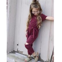 Детская одежда для маленьких девочек, комбинезон с прорезями на поясе, комбинезон с открытыми плечами, свободная одежда, летняя одежда CANIS 32883779032