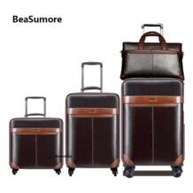 мужской деловой комплект багажных сумок на колесиках Spinner 24 дюймов Ретро чемоданы на колесах 20 дюймов тележка для каюты пароль дорожная сумка BeaSumore 33051959144