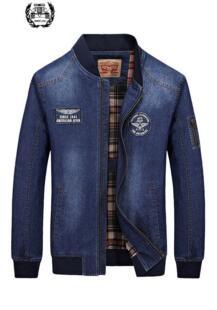 2019 новый список осенней брендовой одежды Мужская джинсовая куртка синие джинсы мода M ~ 3XL пальто пиджак в повседневном стиле одежда с длинными рукавами ZHAN DI JI PU 32702592257