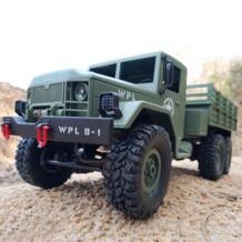 WPL RC грузовик 1/16 2,4G 6WD RC Гусеничный внедорожный автомобиль 1:16 мини внедорожный RC военный грузовик RTR четырехколесный привод мальчик игрушки Детский подарок No name 32908724348