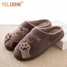 Домашние тапочки Для мужчин Крытый зимний Для мужчин тапочки домашняя обувь плюшевые Тапочки YELUOHK 32830741032