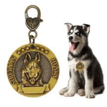 Новое поступление, медная идентификационная бирка для питомцев со стереоскопическим рисунком, ошейник для собак, кошек, аксессуары, ожерелье, имя, идентификационная бирка 3,5 см, Бесплатная гравировка-in ID бирки from Дом и животные on AliExpress PAWFECT 32923859671