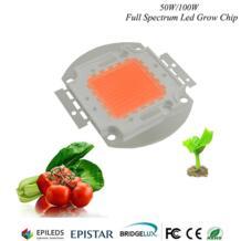 Hydroponice 1 Вт 3 Вт 5 Вт 50 Вт/100 Вт светодио дный растут чип Epistar 35mil светодио дный чип, полный ассортимент 400nm-840nm для выращивания домашних растений освещения YXO YUXINOU 32762276225