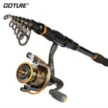 Катушка Goture Rod Combo 2,1-3,6 м телескопическая удочка из углеродного волокна GT3000S спиннинговая катушка рыболовные аксессуары No name 32723648780