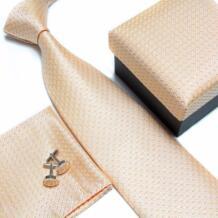 2019 мужской галстук модные мужские аксессуары Дешевые Галстуки для мужчин галстук и платок Набор запонки, подарочная коробка No name 1287610334