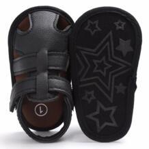 Лето Обувь для маленьких мальчиков мягкие кожаные сандалии Бабс Обувь для мальчиков лето Prewalker мягкая подошва Пояса из натуральной кожи пляжные сандалии puseky 32812400685