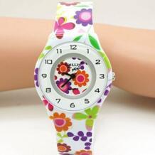 Шт. 1 шт. цветок мультфильм дети часы для мальчиков и девочек дети движение водостойкие кожа Спортивные кварцевые наручные часы Relojes Relogio Zien 32778513797
