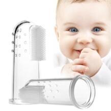 Милая детская зубная щетка палец с коробкой детские зубы прозрачный Массаж Мягкие силиконовые детские резиновые чистящие щетки набор массажеров для мальчиков Mambobaby 32917712470