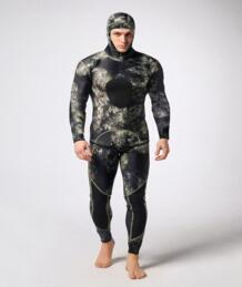 Высокое качество 3 мм неопрена капот Гидрокостюмы мокрого типа для Для мужчин 2 шт Разделение Кепки шляпа гидрокостюм Подводное погружение оборудовать для мужчин t подводной охоты теплые зимние Плавание No name 32822104871
