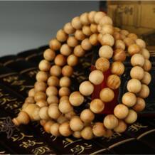 108*0,8 см туя sutchuenensis кедр натуральный буддийские молитвенные бусины Деревянный браслет Будда Rosay цепочки и ожерелья ювелирные изделия HAEQIS 32259615055