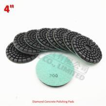 9 шт. 4 дюйма утолщенной Diamond смолы облигаций бетона полировки #200 Диаметр 100 см Пол возобновить колодки для бетона DIATOOL 32789759628