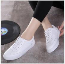 Женская обувь из натуральной кожи Кружево со шнуровкой на плоской подошве Белая обувь на мягкой подошве Мокасины повседневная обувь размер 35-40 RUSHIMAN 32794848827