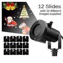 Проектор аксессуар Водонепроницаемый 12 Направляющие светодиодный проектор свет снежинка Spotlight Рождество Хэллоуин украшения нам/EU/UK/AU разъем Kinganda 32835125391
