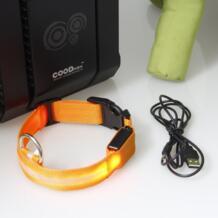 Регулируемый Детская безопасность домашние животные собака мигающий светодиод ночник нейлон воротник зарядка через USB S-XL 5076 panDaDa 32624960759
