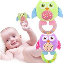 Новое поступление Малыш младенческой мини улыбающаяся Сова детская погремушка морщинка кольца повесить для ребенка подарок плюшевые 20% скидка JJOVCE 32720720777